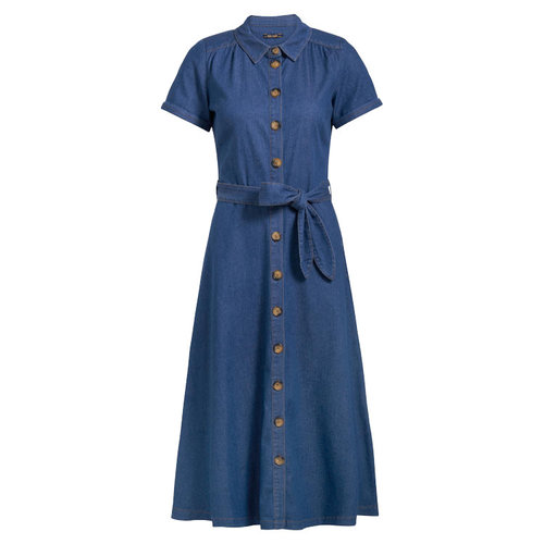 King louie - olive dress chambray - river blue