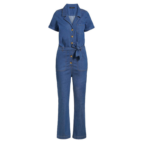 King louie - gracie jumpsuit chambray - river blue