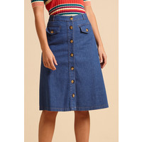 King louie - caroll skirt chambray - river blue