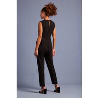King louie - dora jumpsuit woven crepe - black