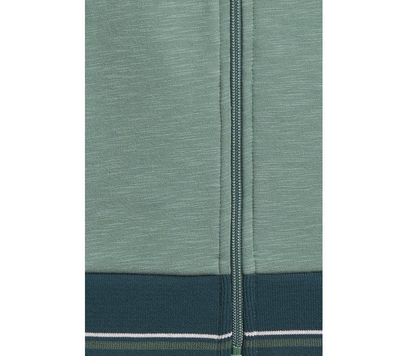 King louie - baseball jacket slub sweat - fir green