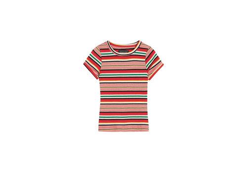 Petit Louie Petit louie - t shirt poolside stripe - chili red