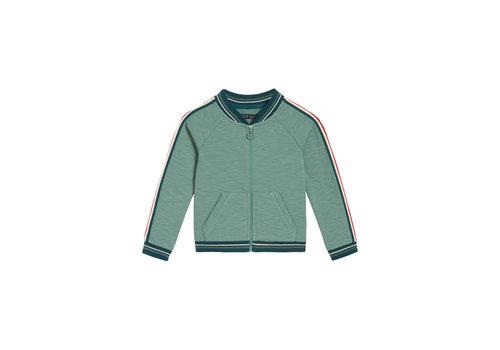 Petit Louie Petit louie - isa baseball jacket slub sweat - fir green