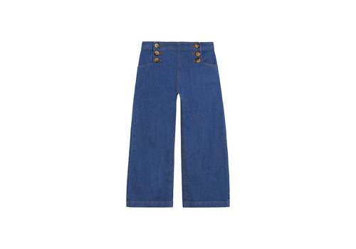 Petit Louie Petit louie - sailor pants chambray - river blue