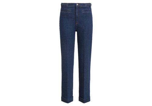King Louie King louie - garbo cropped braid pants organic denim - blue