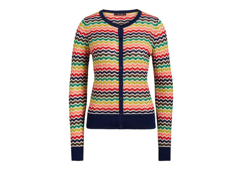 King Louie King louie - cardi roundneck sassy - blue