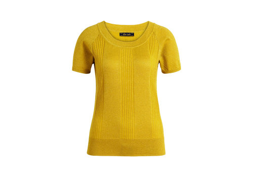 King Louie King louie - boatneck top lapis - mimosa yellow