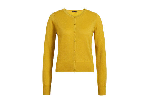 King Louie King louie - cardi roundneck organic lapis  - mimosa yellow