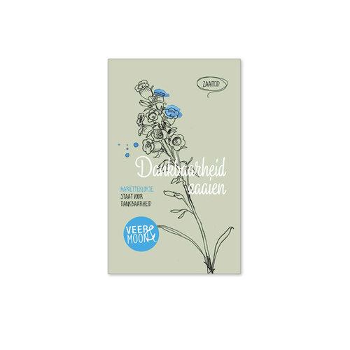 Veer & Moon - bloemzaadjes - dankbaarheid zaaien