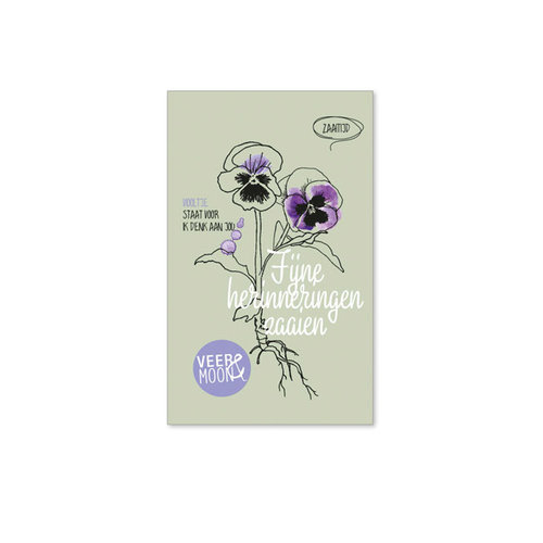 Veer & Moon - bloemzaadjes - fijne herinneringen zaaien