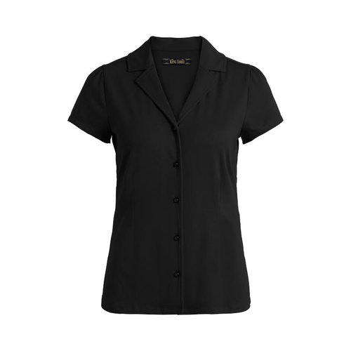King louie - patty blouse cotton lycra light - black