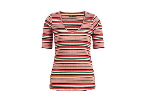 King Louie King louie - carice v top poolside stripe - chili red