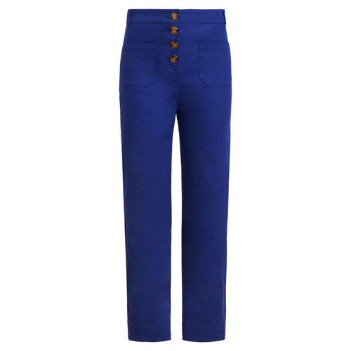 King louie - high waisted pocket pants sturdy - dazzling blue