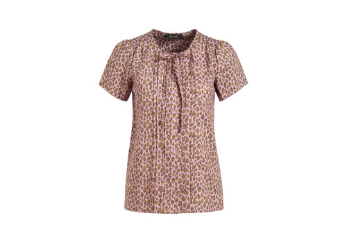 King Louie King louie - izzy pintuck blouse panthera - granny pink