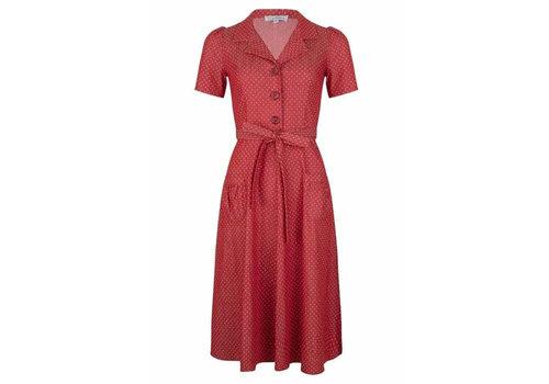 Very Cherry Very Cherry - revers dress midi - denim dots red