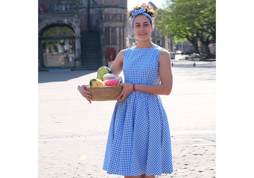 Very Cherry Very Cherry - amelie dress gingham - gliss blue