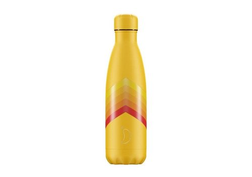 Chillys Chillys - thermosfles 500ml - yellow zigzag