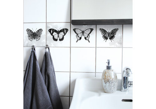 Boubouki Boubouki - tegelsticker - farfalla (4 tegels)