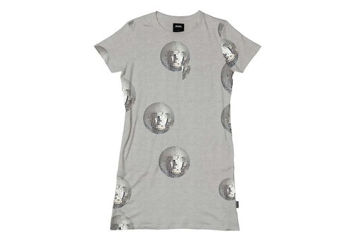 Snurk Snurk - t-shirt dress women - disco fever