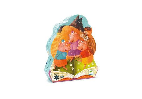 Djeco Djeco - puzzel - de 3 biggetjes (24 stukjes)