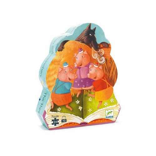 Djeco - puzzel - de 3 biggetjes (24 stukjes)
