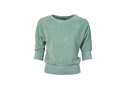 Froy & Dind Froy & dind - sweater sybille - velour blue