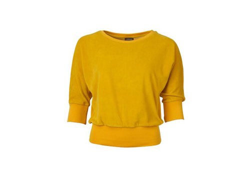 Froy & Dind Froy & dind - sweater sybille - velour ceylon yellow