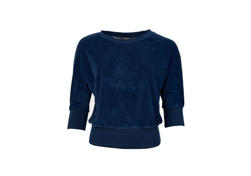 Froy & Dind Froy & dind - sweater sybille - velour marine