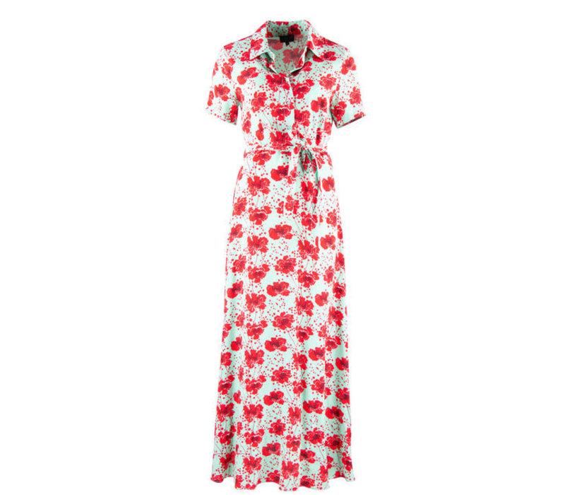 Zilch - dress long - poppy mint