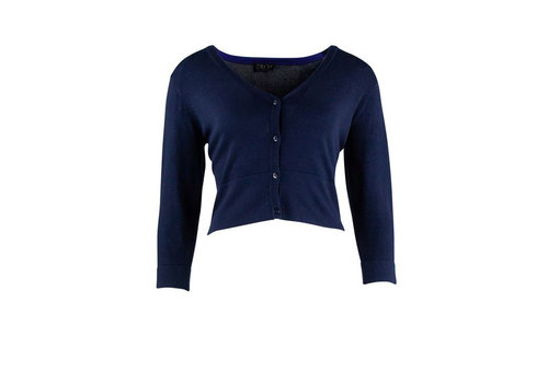 Zilch Zilch - cardigan short  bamboe - navy