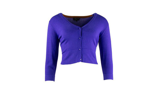 Zilch Zilch - cardigan short bamboe - royal blue