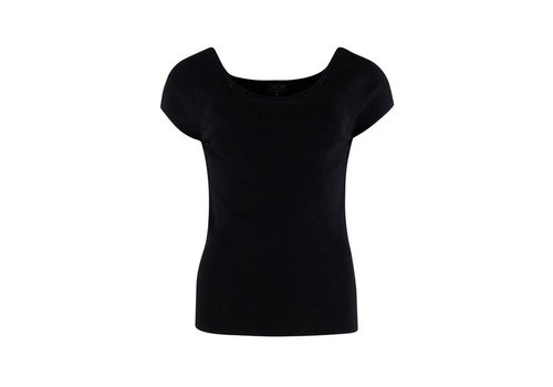 Zilch Zilch - top short sleeve bamboe - black