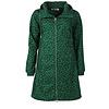 Danefae Danefae - line softshell regenjas - donkergroen met groene stippen