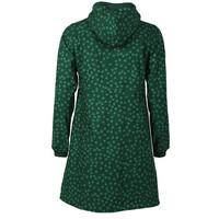Danefae - line softshell regenjas - donkergroen met groene stippen