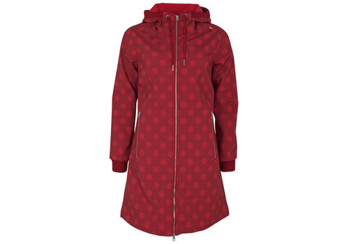 Danefae Danefae - jane softshell - dark red/red dots