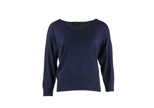 Zilch Zilch - sweater v-neck bamboe - navy