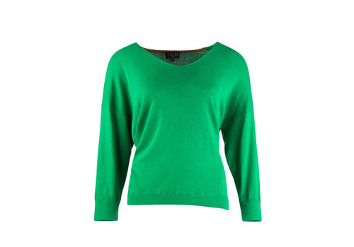 Zilch Zilch - sweater v-neck bamboe - apple