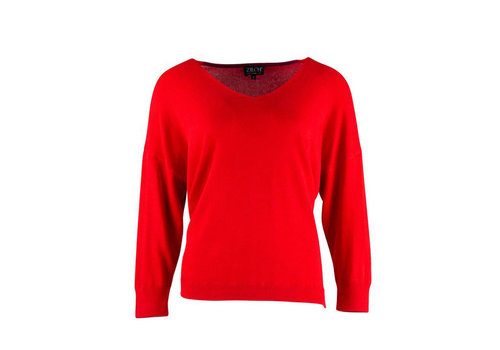 Zilch Zilch - sweater v-neck bamboe - lipstick