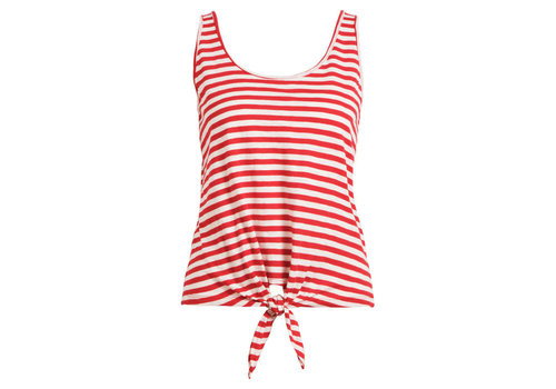 King Louie King louie - knot singlet stripe royale - chili red