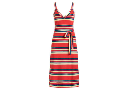 King Louie King louie - isa cami dress playa stripe - apple pink