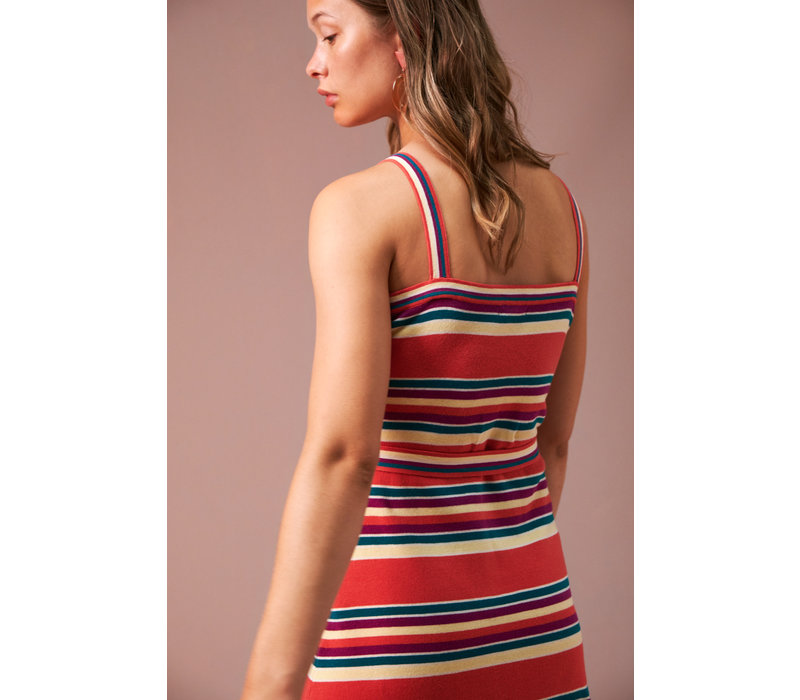 King louie - isa cami dress playa stripe - apple pink