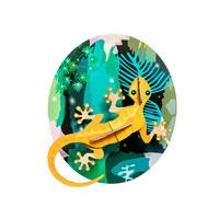 Studio roof - muurdecoratie - jungle gecko