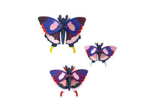 Studio Roof Studio roof - muurdecoratie - swallowtail butterflies (set van 3)