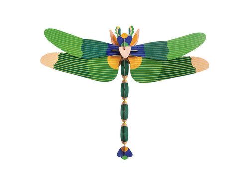 Studio Roof Studio roof - muurdecoratie - giant dragonfly green