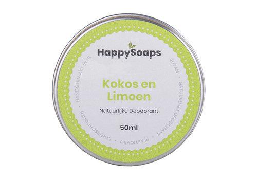 HappySoaps Happysoaps - natuurlijke deodorant - kokos en limoen