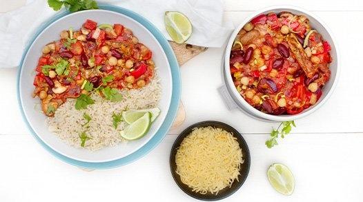 Meal preppen - Chili sin Carne