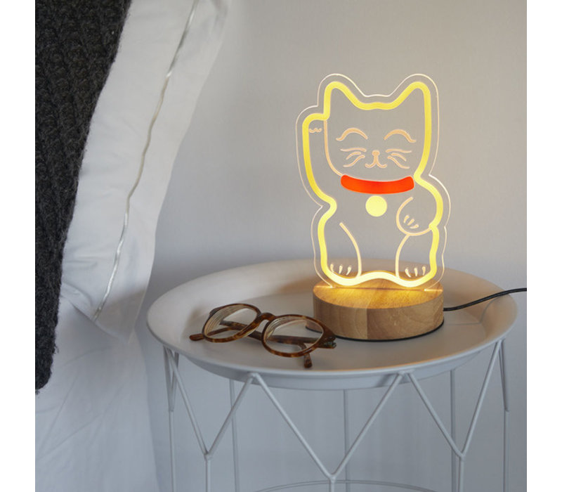 Balvi - tafel lamp - lucky cat