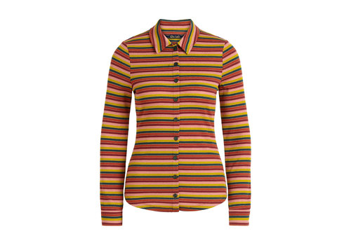 King Louie King Louie - blouse reina stripe - spicy brown