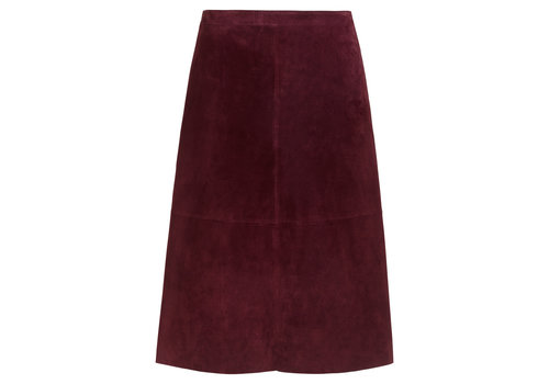 King Louie King Louie - juno skirt suede - beet red