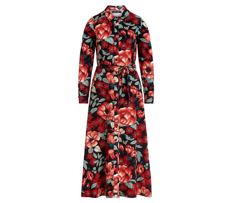 King Louie - olive midi dress kimora - chili red